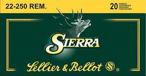 Sellier & Bellot Rifle 22-250 55 Grain SBT 20 Round Box SB22250A