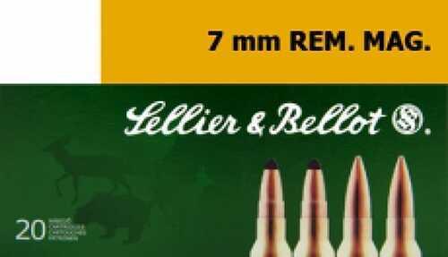 Sellier & Bellot SB7A Rifle 7mm Rem Mag 173 GR Soft Point Cut-Through Edge (SPCE) 20 Box