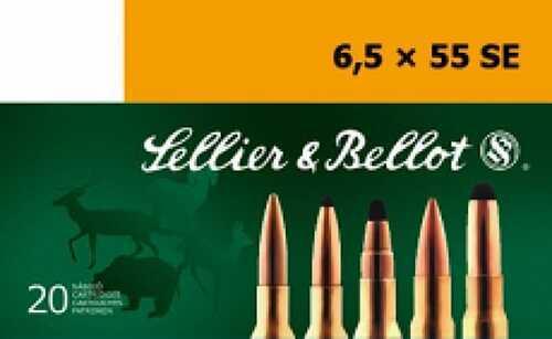 Sellier & Bellot Full Metal Jacket 6.5mmX55mm 140 Grain 20 Rounds Ammunition Sb6555C