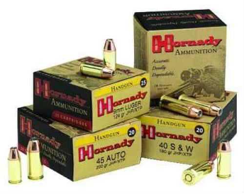 45 Automatic Colt Pistol By Hornady 45 ACP 185 Grain JHP/XTP Per 20 Ammunition Md: 9090