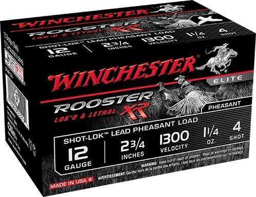 """Winchester Ammo Rooster XR Shot-Lok 12 Gauge 2.75"""" #6 Shot 15 Shells Per Box SRXR126"""