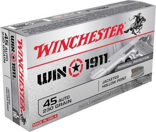 45 Automatic 1911, 230 Gr, JHP (Per 50) Winchester Md: X45P
