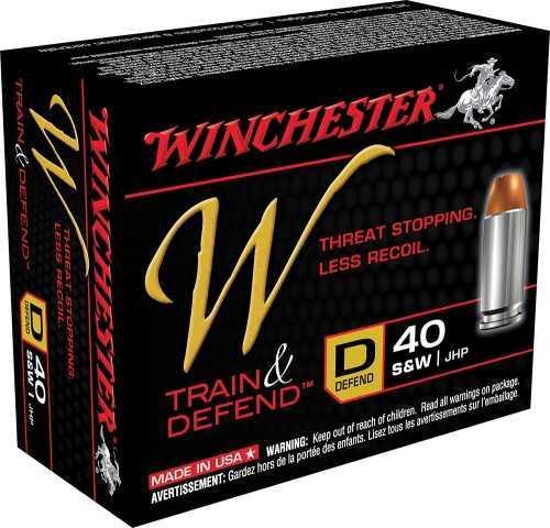 Winchester W DefEND 40 S&W 180 Grain Def JHP 20/Bx