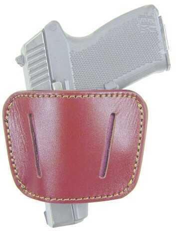 PSP HL035Brn Belt Slide Holster Pistol Medium/Large Brown Leather