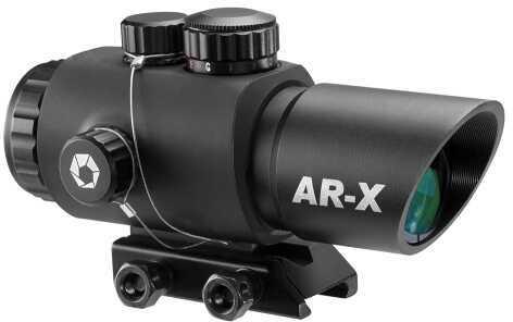 Barska AC12146 AR-X 3X30mm Obj Illum Mil-Dot IR Reticle 70mm Eye Relief Black