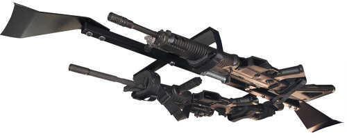 Great Day CL1502T Center-Lok Tactical Overhead Gun Rack for Trucks Aluminum Blk