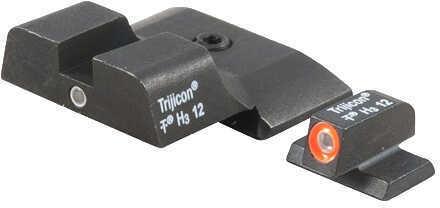 Trijicon 600722 HD Night Sights S&W M&P Shield Tritium/Fiber Optic Green Tritium w/Orange Outline Tritium Green w/Black