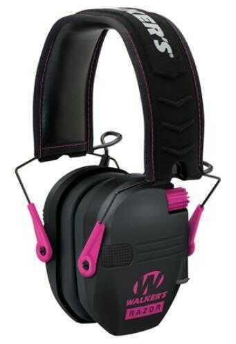 Walkers Game Ear Razor Slim Shooter Folding Earmuff 23 dB Black/Red
