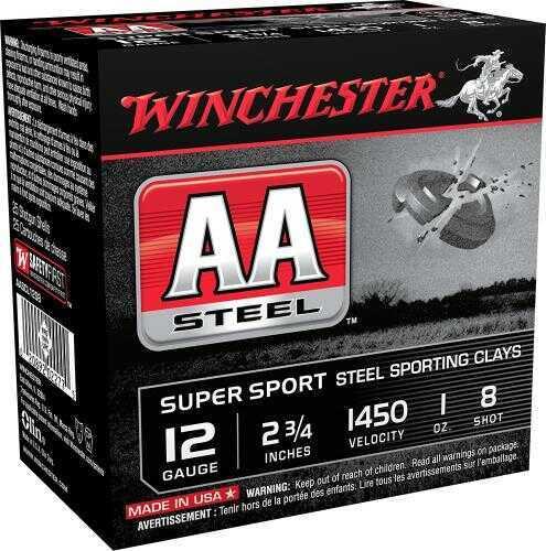 Winchester AA Steel Target 12 Gauge Ammo 2.75' Shell #8 1Oz 25 Shells