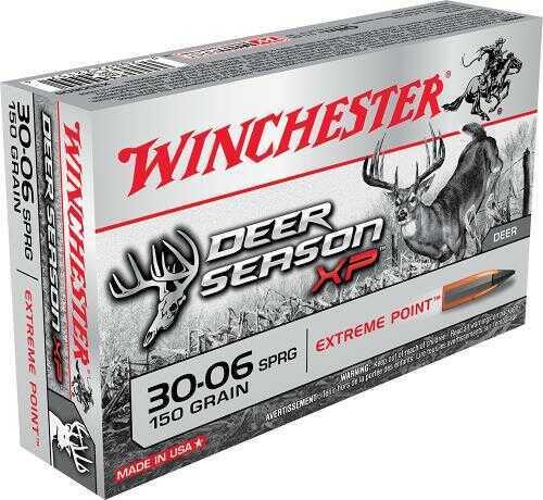 Winchester Ammunition Deer Season 30-06 150 Grain Extreme Point Polymer Tip 20 Round Box X3006DS