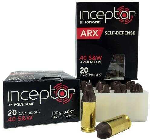 40 S&W 107 Grain ARX Self Defense Brass Case (Per 20) Md: 40ARXBRSW-20