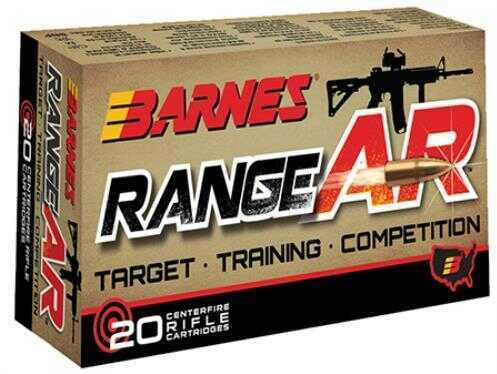 Barnes Bullets RangeAR 300 AAC Blackout 90 Grain Open-Tip Match Ammunition, 20 Rounds Per Box