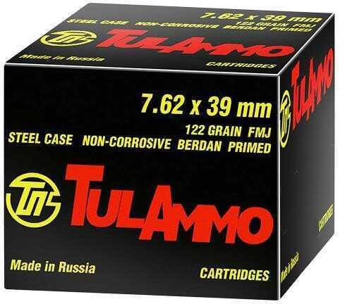 7.62X39 122 Grain FMJ Steel Case (Per 40) Md: Ul07.6240