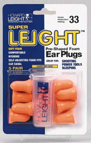 Super Leight Pre-Shaped Foam Ear Plugs, 5 Pair Md: R-84133