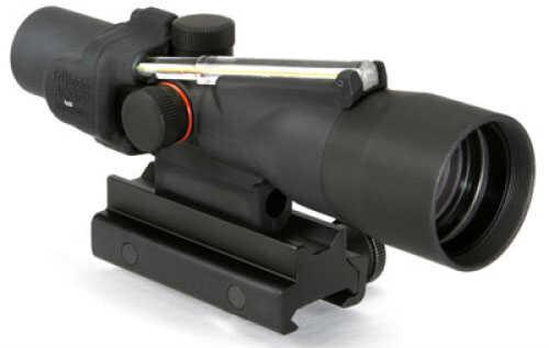 Trijicon Compact ACOG 3X30mm Amber Chevron .223 Ballistic Reticle - M16 Flattop Adapter Mount - BAC For Both-eyes-Open
