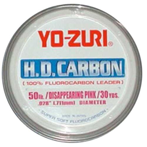 Yozuri HD Fluorocarbon Leader 30Yd 100Lb Disappearing Pink Md#: HD100LbDP
