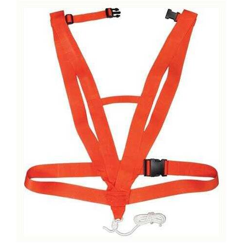 Hunter Specialties Deer Drag Deluxe Body Harness Style Safety Orange
