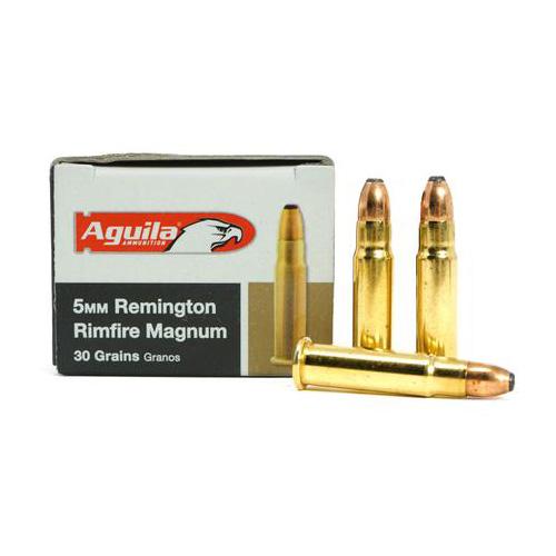 Aguila Ammo 5MM Remington Magnum 30Gr. JHP 50-Pack