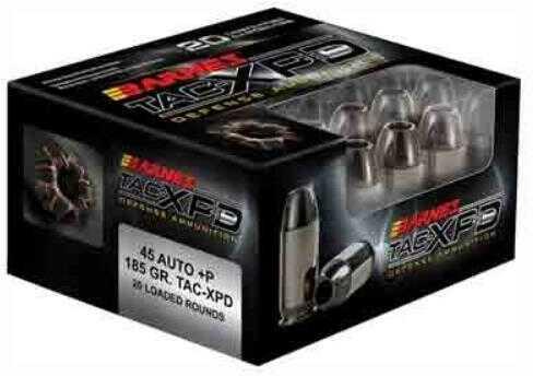 Barnes Ammo TAC-XPD 45ACP +P 185 Grain TAC-XP 20-Pack