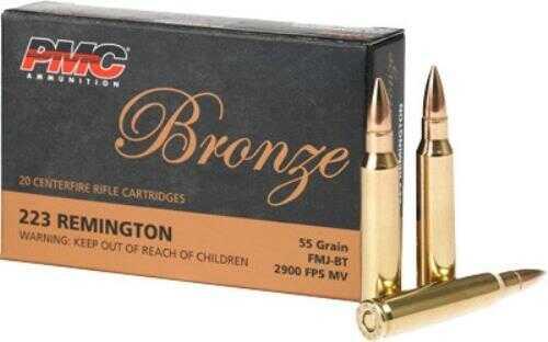 PMC Ammo 223 Remington 55 Grain BT FMJ 20-Pack