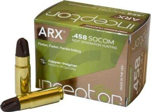 Polycase Ammunition 458 SOCOM 200 Grains, ARX, Per 20 Md: 0458SOIARX200-001B00020P
