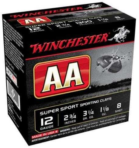 "Win Ammo AA Target 12Ga. 2.75"" 1300Fps. 1-1/8Oz. #8 25-Pack"