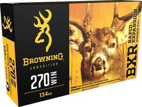 Browning Ammo BXR 270 Winchester 134 Grain BXR 20-Pk