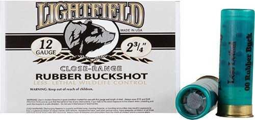 """LIGHTFIELD 12 Gauge 2-3/4"""" (21Ball Rubber Buckshot 5-Pack"""