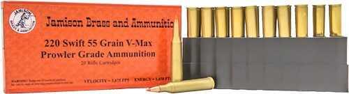 Jamison Ammo 220 Swift 55 Grain Hornady V-Max 20-Pk