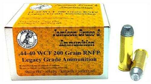 Jamison Ammo 44-40 Winchester 200 Grain Lead-RNFP 20-Pk