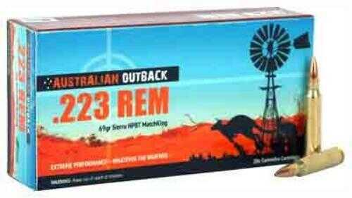 Adi Outback Ammo 223 69 Grain Sierra Match-King 20 Pack<