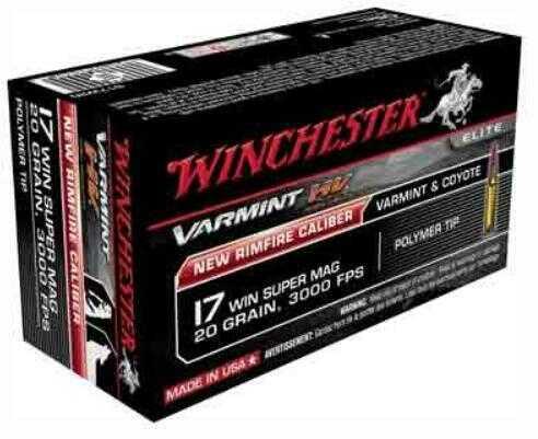 Winchester Ammo Varmint HV 17WSM 20 Grain V-Max 50-Pack