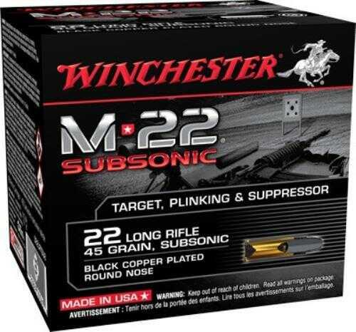 Win Ammo M-22 Subsonic .22LR 1255Fps. 40Gr. Lead RN 800-Pk.