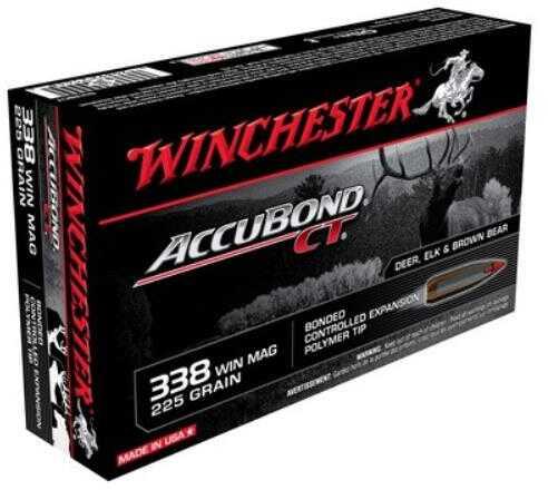 Winchester 338 Winchester Magnum 225 Grain Supreme Accubond Combined Technology 20 Rounds Per Box Ammunition Md: S338CT