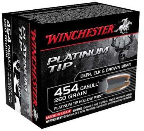 WinchesterWinchester Supreme 454 Casull 260 Grain Platinum Ammunition S454PTHP
