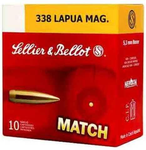 S&B Ammo 338 LAPUA Mag Match 250Grain BTHP 10-Pack