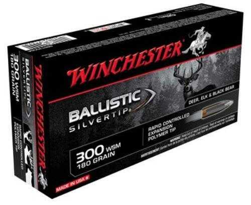 Winchester Ammo 300 WSM 180 Grain BST BallSlvrTip (20 rounds Per Box)