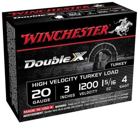 Winchester Dbl X HV 20 Gauge 3In 1.3125Oz 4 10/Bx