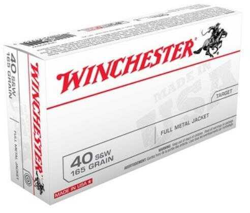 Winchester Ammo USA 40 S&W 165Grain FMJ Truncated CONE 50-Pack