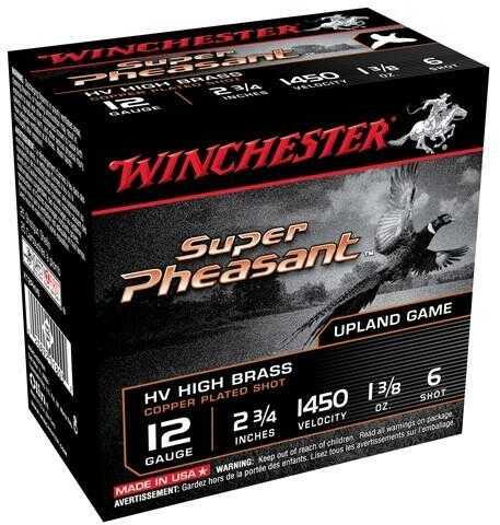 """Win Ammo Super-X 12 Gauge 2.75"""" 1450Fps. 1-3/8Oz. #6 25-Pack"""