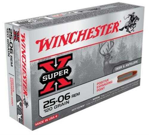 25-06 Remington By Winchester 120Grain Super-X Positive Expanding Po Ammunition Md: X25062