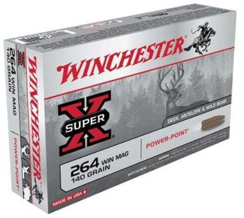 Winchester Ammo 264 Winchester Super-X 140 Grain Pp (20 rounds Per Box)