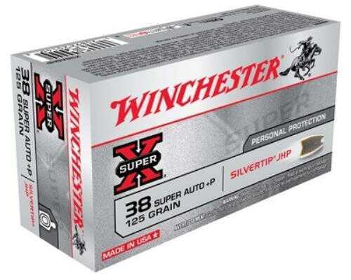 Winchester Ammo Super-X 38 Super +P 125 Grain Silvertip HP 50-Pack