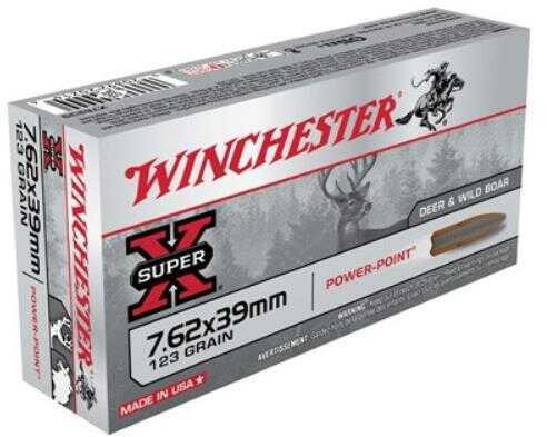 Winchester Ammo Super-X 7.62X39 123 Grain Power Point 20-Pack