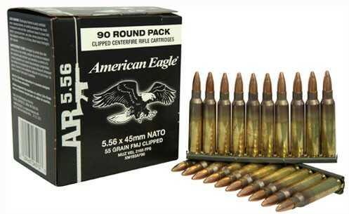 Federal Ammo AE 5.56 55 Grain FMJ-BT On Stripper Clips 450Rd Case