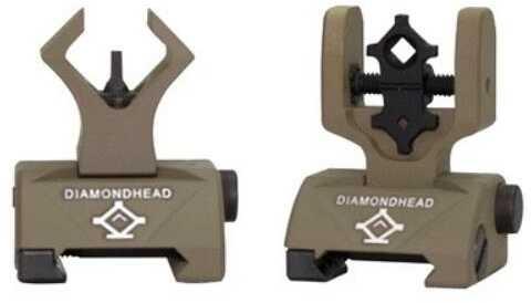 DIAMONDHEAD Micro-D Sight Set Front & Rear Flip-Up Black