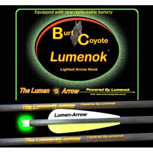 "LEMENOK XBOW Arrow 20"" Carbon Grn Lighted NOCK Crescent 3Pk"