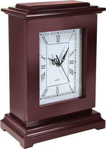 PSP RGC Concealment Rectangle Clock 13X9X6 Wood Mahogany