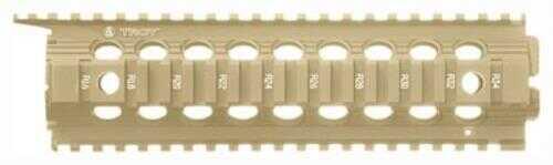 "Troy Rail Enhanced Drop-In 9"" FDE Fits AR-15 Mid-Length"