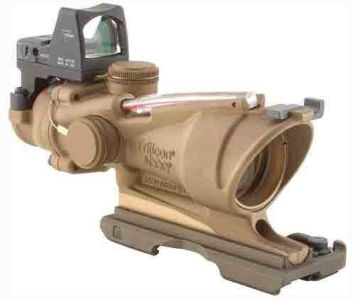 Trijicon ACOG/RMR 4X32 FDE .223 Red Crosshair BAC